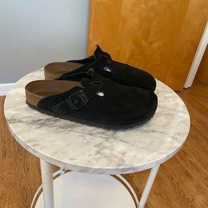 Birkenstock Suede Leather Slip On Clog